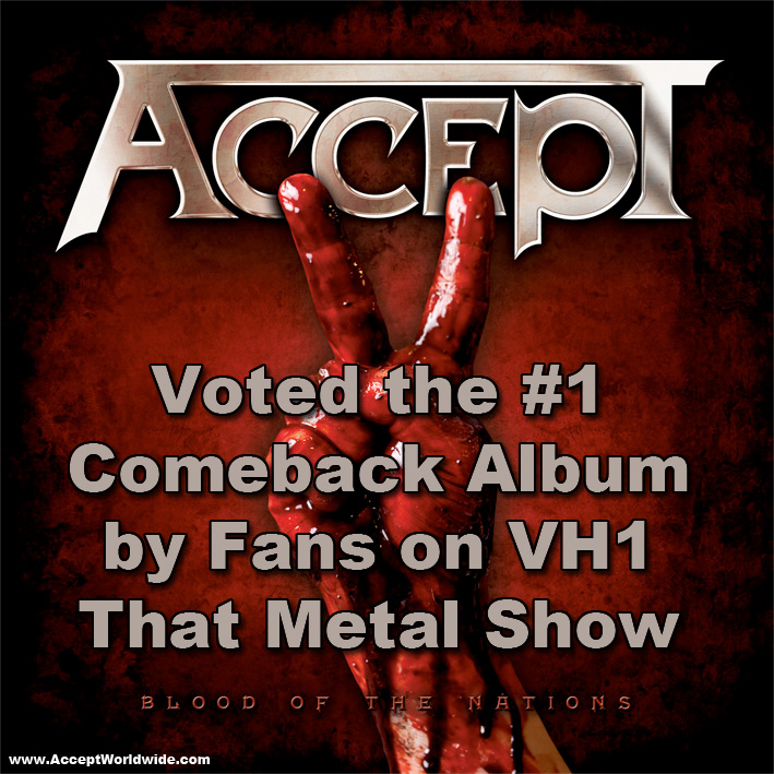 ACCEPT Voted Top Comeback Album