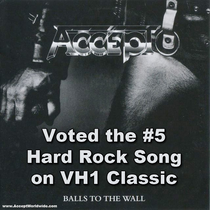 Accept #5 Hard Rock Song on VH1 Classic