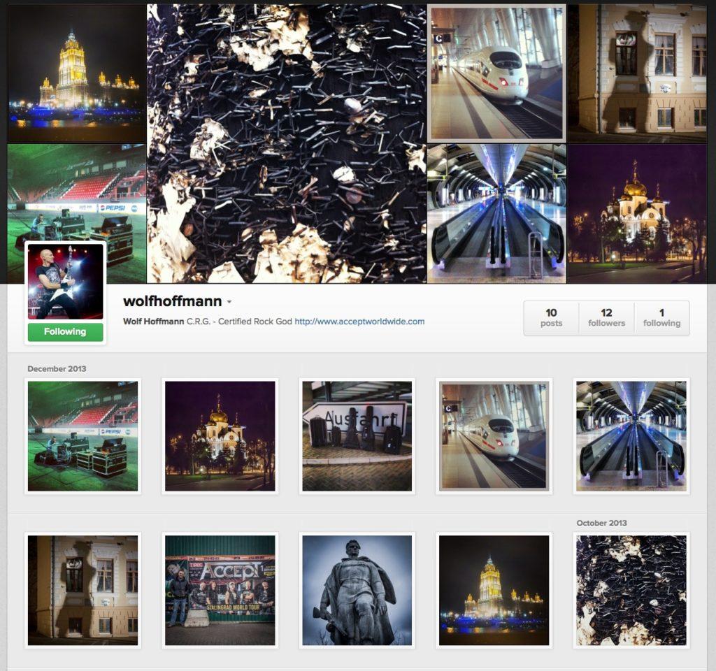 Wolf Hoffmann Instagram