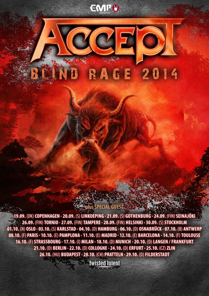 ACCEPT - Blind Rage 2014 Poster final