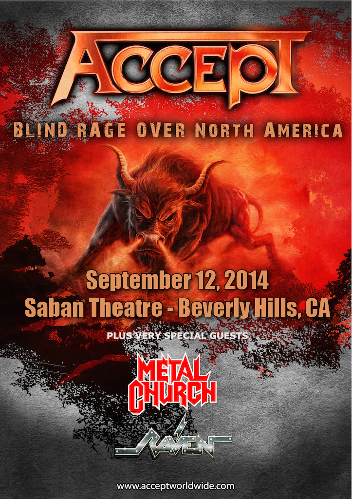 ACCEPT announces L.A. show