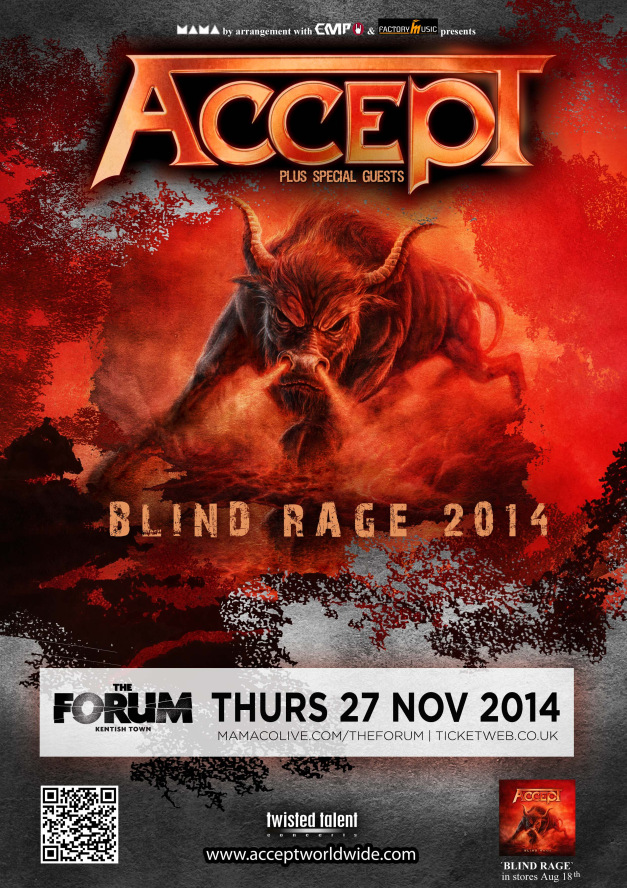 ACCEPT announce London Show